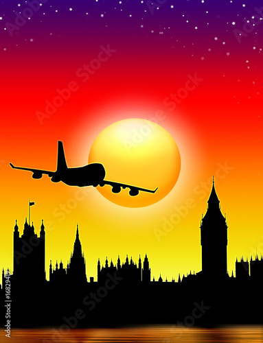 Poster Doodle Viaggio a Londra-London-Londres-Big Ben