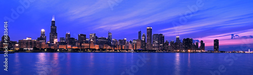 Poster Chicago XXL - Famous Chicago Panorama