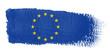 canvas print picture - bandiera Europa
