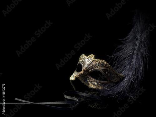 Fotografie, Obraz  carnival mask isolated on black