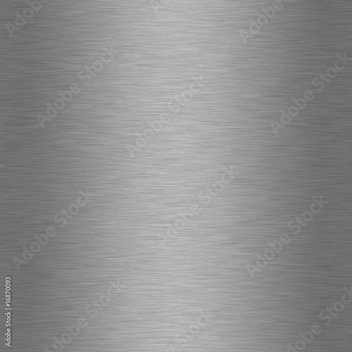 Poster Metal Brushed Steel