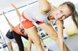 Leinwanddruck Bild - in gym