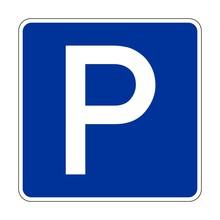 Parkplatz Verkehrsschild Vektor
