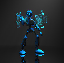 Robot Using Holographic Screens