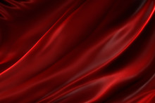 Rippled Red Silk