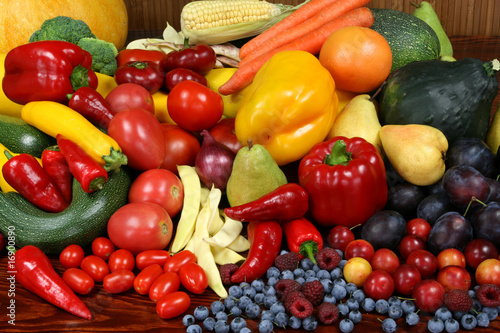Fototapety, obrazy: Fruits and vegetables.