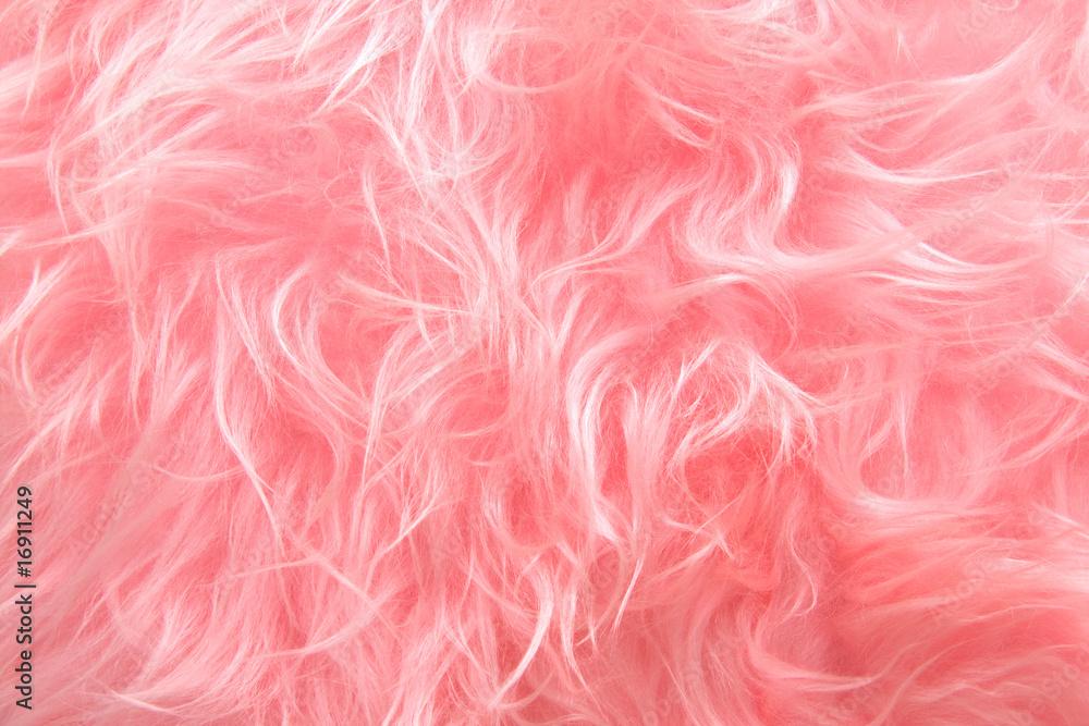 Fototapeta Pink Shaggy Artificial Fur