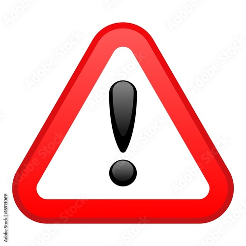 Fotografía  Warning Red Triangular Sign