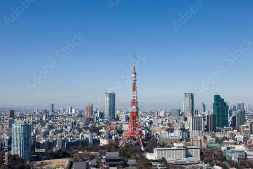 Deurstickers Tokio 東京の街並み 港区