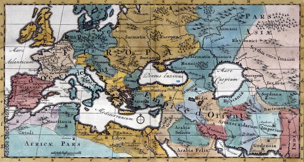 Stara Mapa Europy Xviii Wiek Zamow Fototapete Plakat Obraz