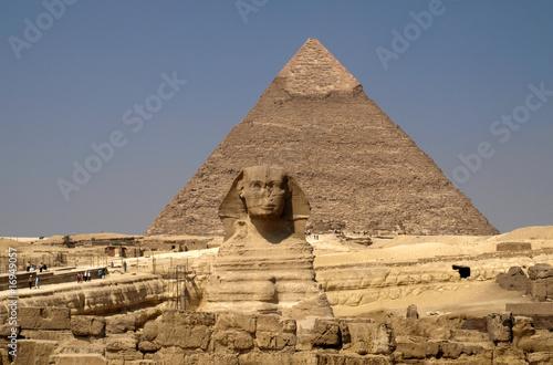 In de dag Egypte Pyramids and sphinx