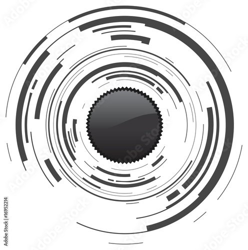 Photo camera lens and button