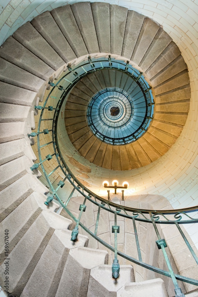 Fototapeta beautiful lighthouse staircase