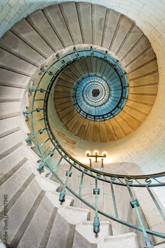 Fototapeta beautiful lighthouse staircase obraz
