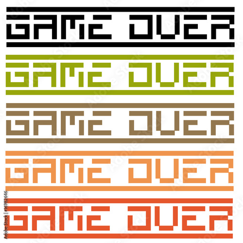game over (title in 5 variations) Canvas-taulu