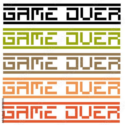 Fotografie, Obraz  game over (title in 5 variations)