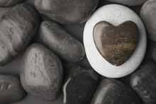 Piedra En Fprma De Corazon