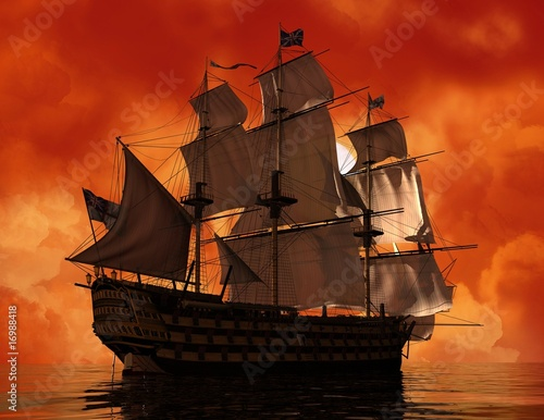 In de dag Schip The ancient ship