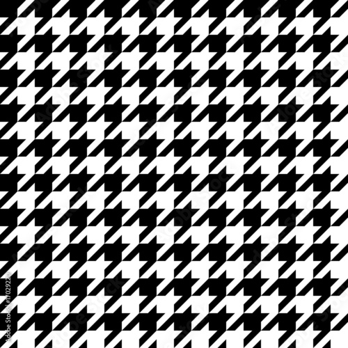 Houndstooth Pattern Wallpaper Mural