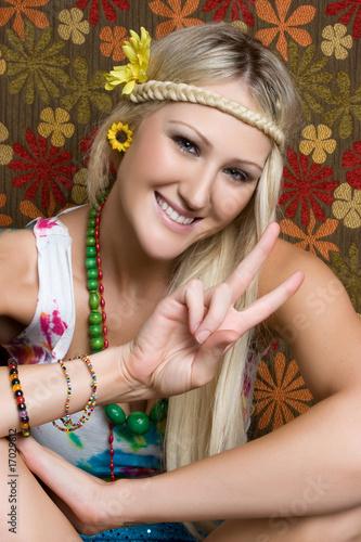 Photo  Peace Sign Girl