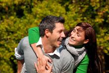 Zu Zweit Couple Im Park