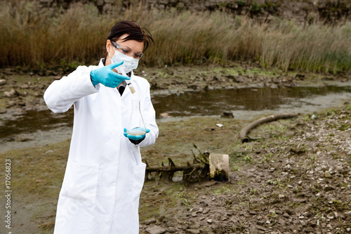Foto  environmental pollution - research