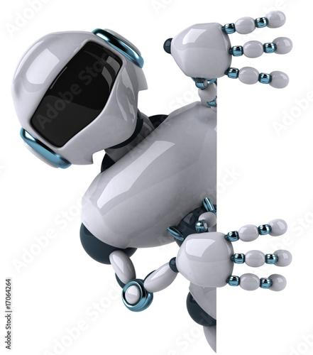 Photo Robot et panneau blanc