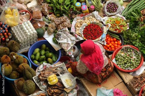 Fotografía  Pasar Siti Khadijah, Kelantan, Malaysia..
