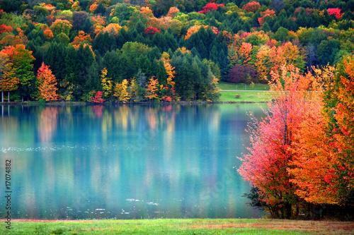 Scenic autumn landscape in Pennsylvania Canvas Print