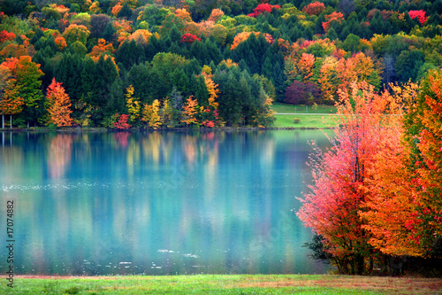 Papel de parede Scenic autumn landscape in Pennsylvania