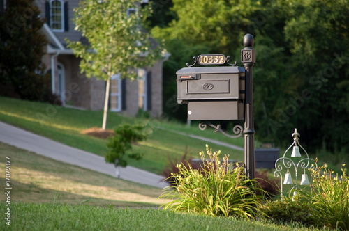 Fotografie, Obraz  Old-styled mailbox with ornament