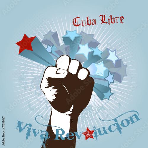 ilustracja-z-piescia-i-tekstem-viva-revolucion