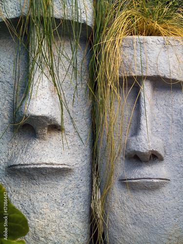 Foto-Stoff bedruckt - Easter Island Planters (von Frank Jr)