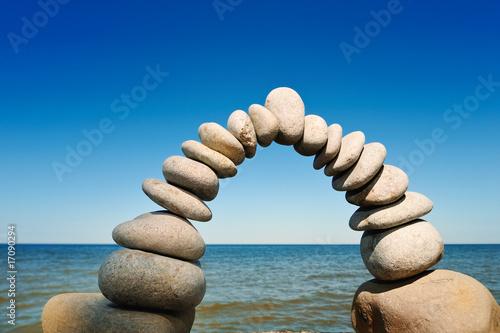 Foto op Plexiglas Stenen in het Zand Incurvation