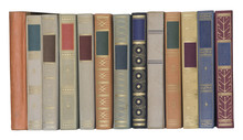Vintage Books In A Row, Isolated, Free Copy Space