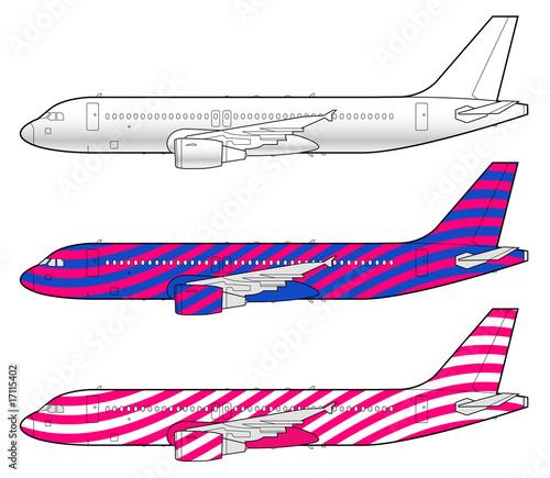 Fotografia  aircraft template