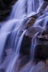 japanese zen waterfall in blue tone