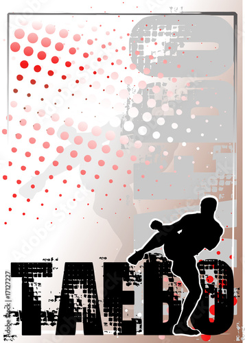 taebo silver poster background 1 Canvas Print