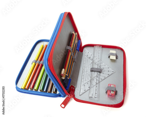 Fotografia pencil case rulers school education