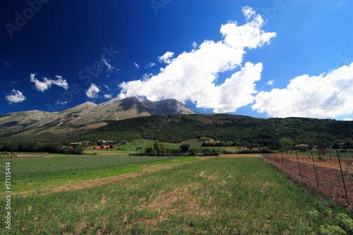 Monte Velino versante Ovest Canvas Print
