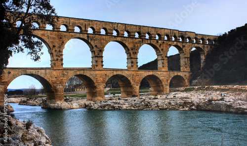 Door stickers Artistic monument Le Pont du Gard (HDR)