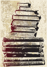 Grunge Book Stack