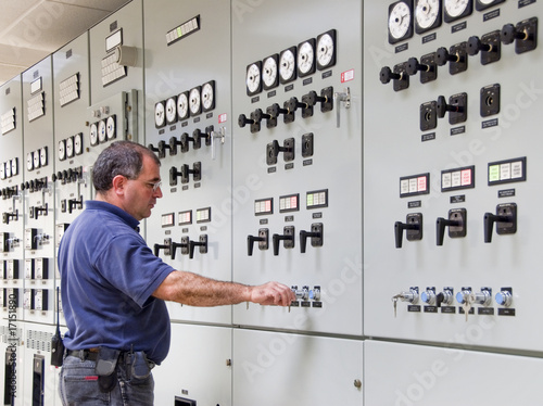 Fotografie, Obraz  Checking electrical panel