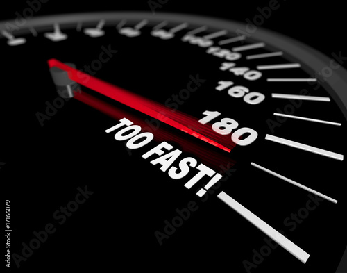 Fotografia, Obraz Speedometer - Going Too Fast