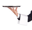 canvas print picture - waiter with tray