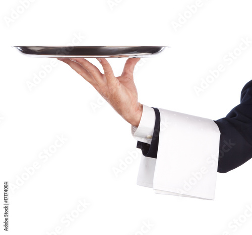 Photo sur Toile Assortiment waiter with tray