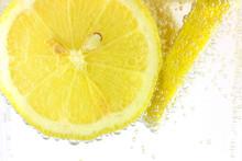 Sliced Lemon In Refreshing Fiz...