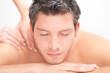canvas print picture - men massage