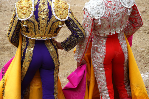 La pose en embrasure Corrida bullfighter