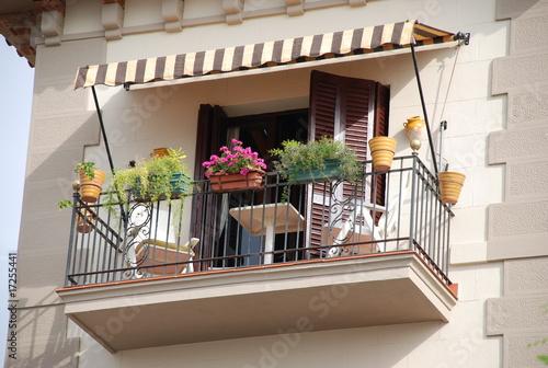 Leinwand Poster kleiner balkon